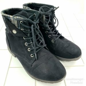 Rock & Candy ankle combat boots black 7.5